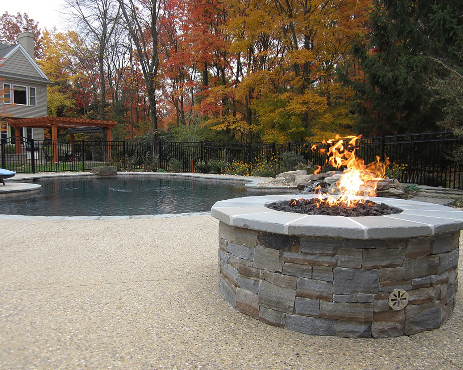 gas fire pit install