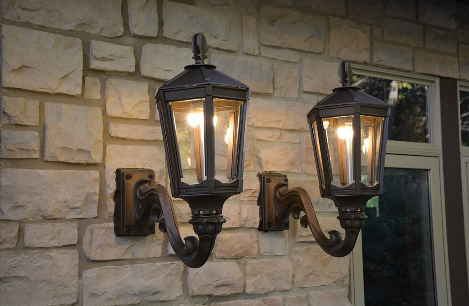 wall mount gas light