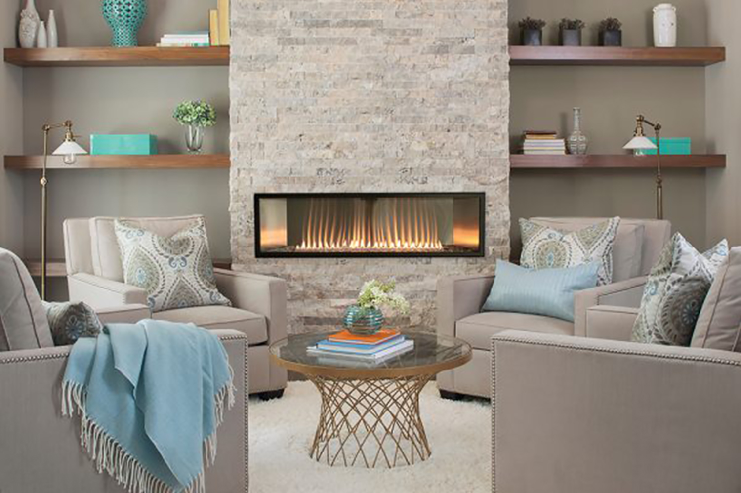 LINEAR VENTLESS FIREPLACE