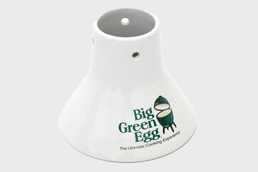 big green egg chicken roaster