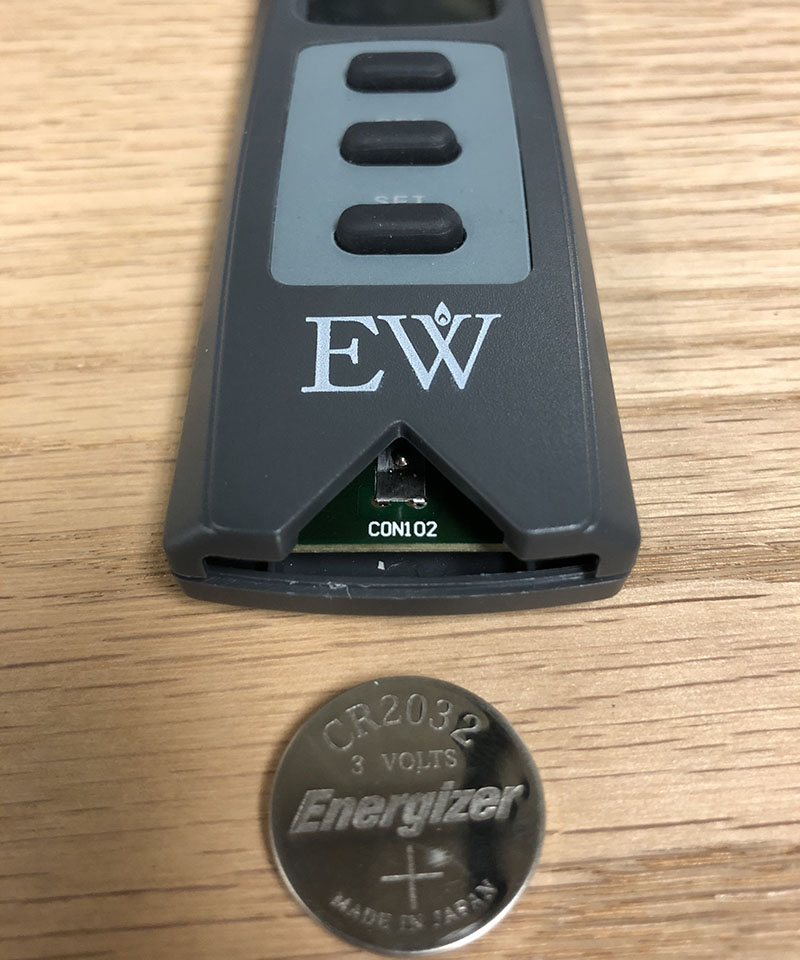 everwarm ew4001th fireplace remote battery