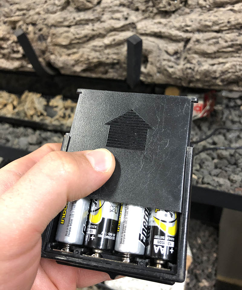 fireplace remote batteries