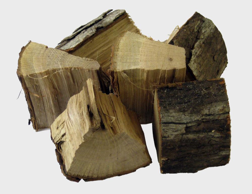 oak smoking wood flavored
