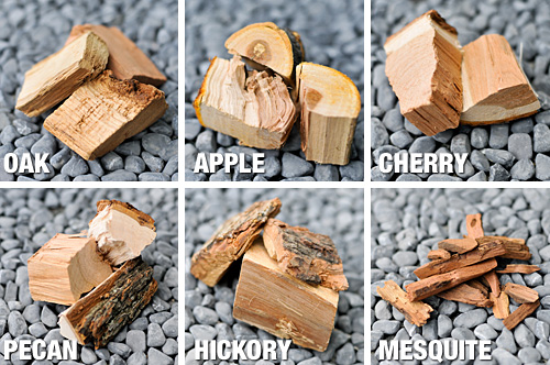 different types of smoking wood