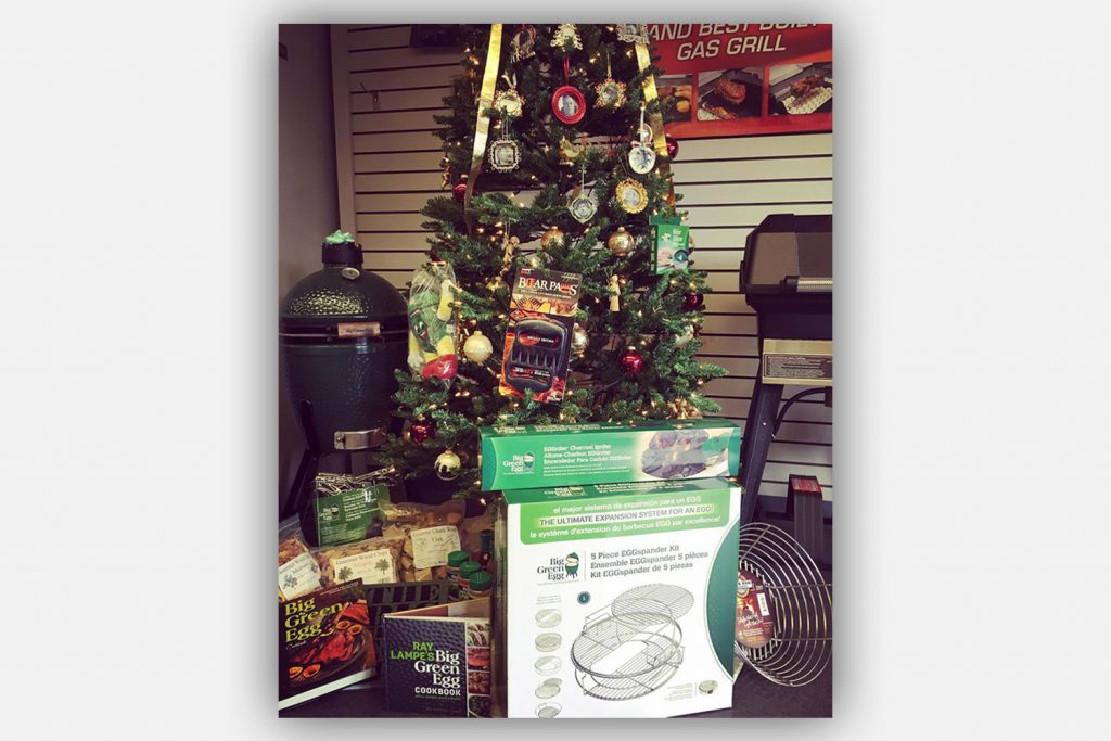 christmas tree with bbq gifts