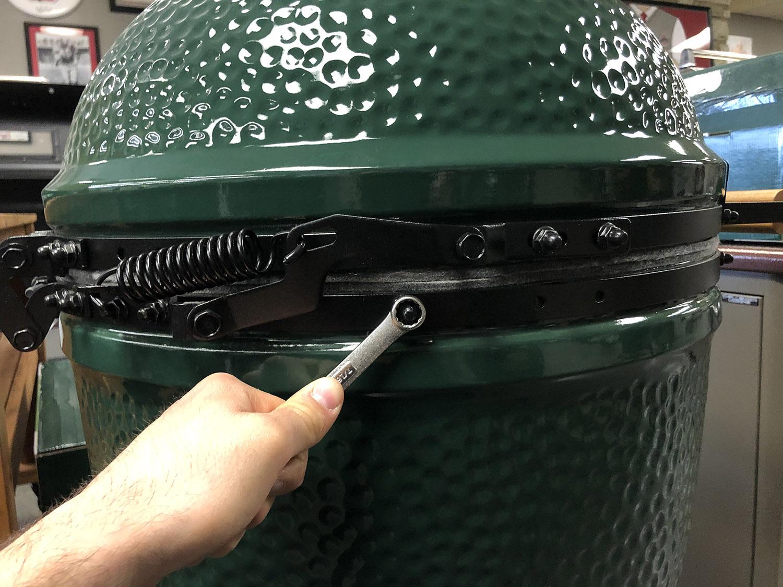 big green egg band nut caps