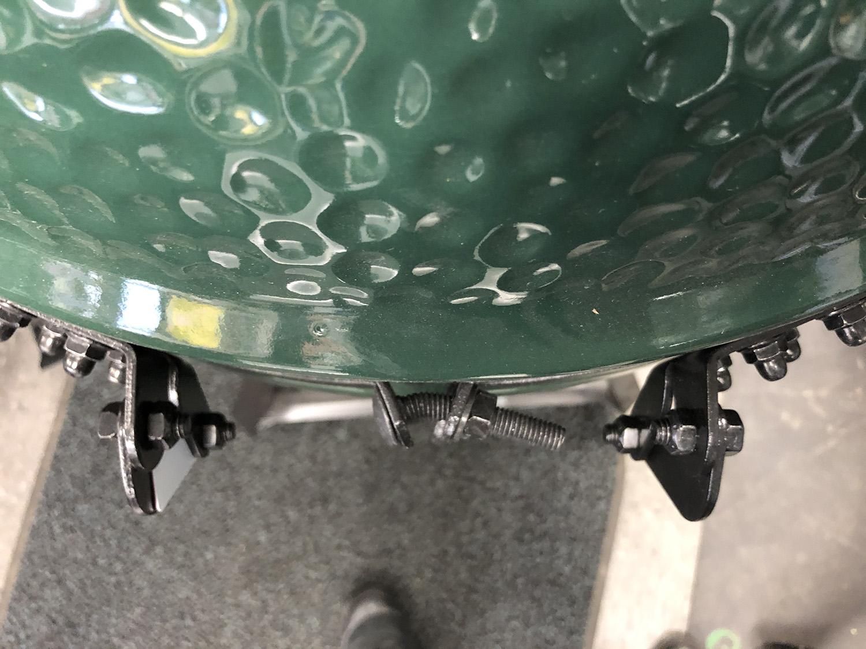 big green egg bent bolts