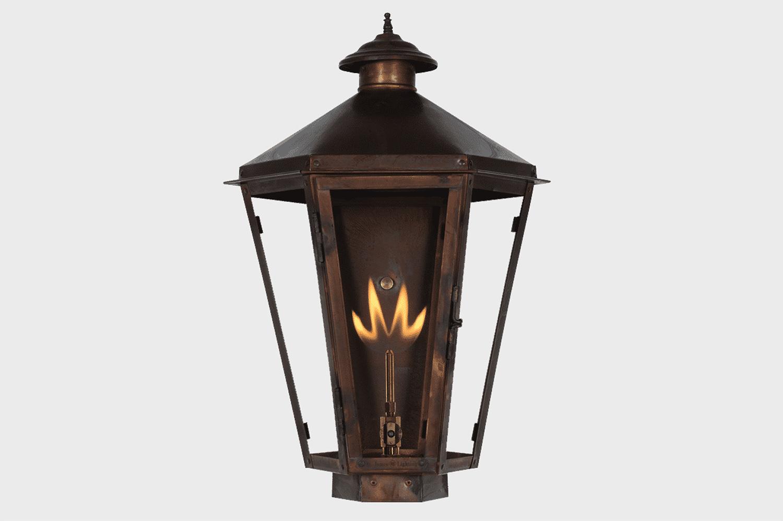 biloxi copper gas lamp