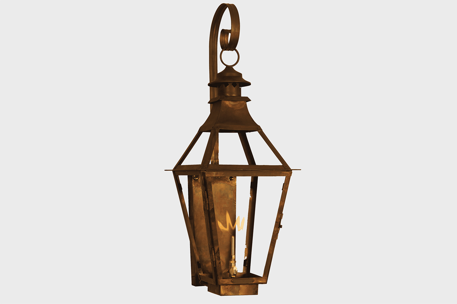 copper hanging gas light