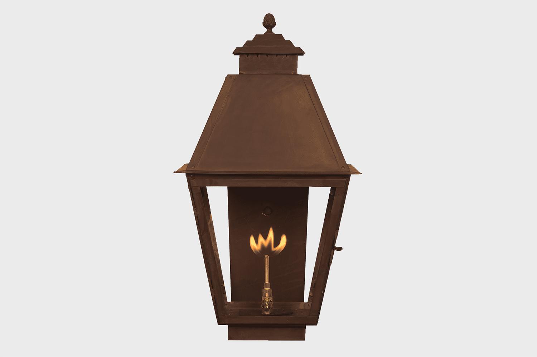 NATCHEZ COPPER GAS LAMP