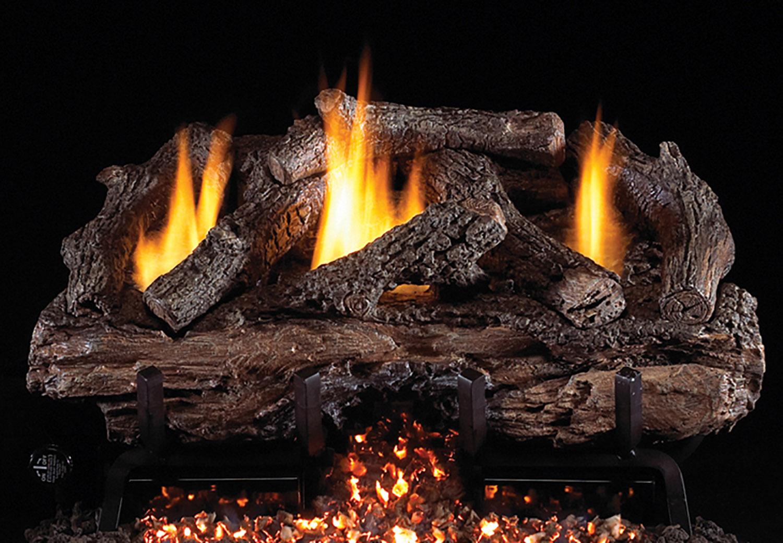 Charred Aged Split Oak gas logs