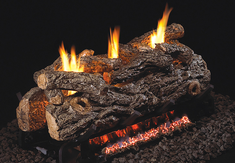 Golden Oak Designer see-thru gas logs