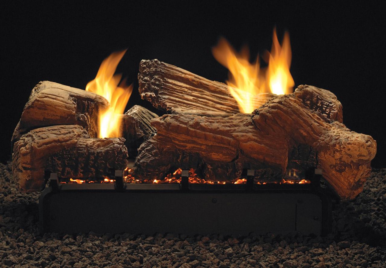 Stone River See-Through gas logs